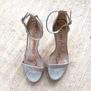 Sam Edelman Open-Toe Ankle Strap Stiletto Heels